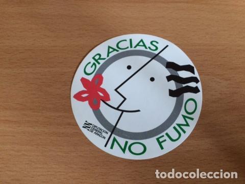 GRACIAS NO FUMO DGA (Coleccionismos - Pegatinas)