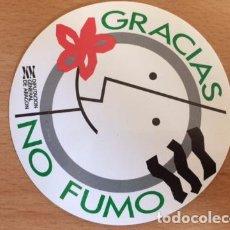 Pegatinas de colección: GRACIAS NO FUMO DGA. Lote 86282060