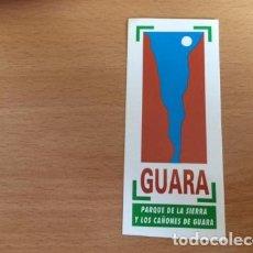 Pegatinas de colección: GUARA PARQUE DE LA SIERRA Y LOS CAÑONES DE GUARA. Lote 86285640