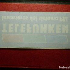 Pegatinas de colección: PEGATINA - ADHESIVO - STICKER - TELEFUNKEN - 20,5 X 8 CM. - TIENDAS DE TELEVISORES AÑOS 70. Lote 87420768