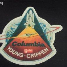 Pegatinas de colección: PEGATINA STICKER NAVE ESPACIAL COLUMBIA YOUNG CRIPPEN NASA USA ESPACIO. Lote 89631628