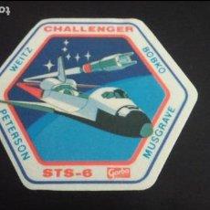 Pegatinas de colección: PEGATINA STICKER NAVE ESPACIAL COLUMBIA CHALLENGER STS - 6 GARBO NASA USA ESPACIO. Lote 89632008