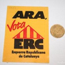 Pegatinas de colección: POLITICA *** ANTIGUA PEGATINA / ADHESIVO *** AÑO 1987 *** SIN PEGAR *** PEDIDO MÍNIMO 3 € ***. Lote 90192432