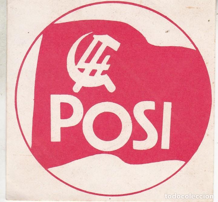 PEGATINA, PEGATINAS, ADHESIVO, ADHESIVOS POSI (TROSKOS) AÑOS 70 (Coleccionismos - Pegatinas)