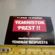 Pegatinas de colección: PEGATINA EUSKERA FEMINISTA . Lote 93233199