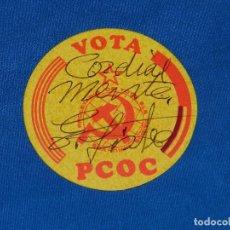 Pegatinas de colección: (AUT) PEGATINA POLITICA VOTA PCOC FIRMADA POR ENRIQUE LISTER , BUEN ESTADO. Lote 93257320