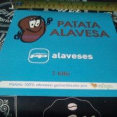 Pegatinas de colección: GRAN PEGATINA POLÍTICA VASCA PATATA ALAVESA PP ALAVESES. Lote 94007599