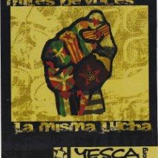 Pegatinas de colección: PEGATINA, PEGATINAS, ADHESIVO, ADHESIVOS. YESCA IZQUIERDA CASTELLANA 2008. Lote 94523462