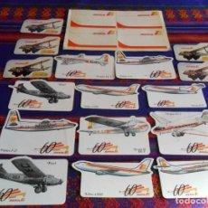 Pegatinas de colección: 20 PEGATINA ADHESIVO IBERIA DE HAVILLAND FOKKER AIRBUS DOUGLAS CARAVELLE FORD BRISTOL BOEING. RARAS.. Lote 95064963