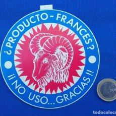 Pegatinas de colección: PEGATINA BOICOT PRODUCTO FRANCES - AÑOS 80. . Lote 95435507