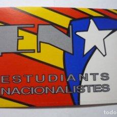 Pegatinas de colección: PEGATINA SINDICATO EN ESTUDIANTES NACIONALISTAS . Lote 95781111