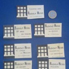 Pegatinas de colección: COLECCION PEGATINAS RUDOLF HESS EDITADAS POR CEDADE EN LOS AÑOS 70. Lote 95971975