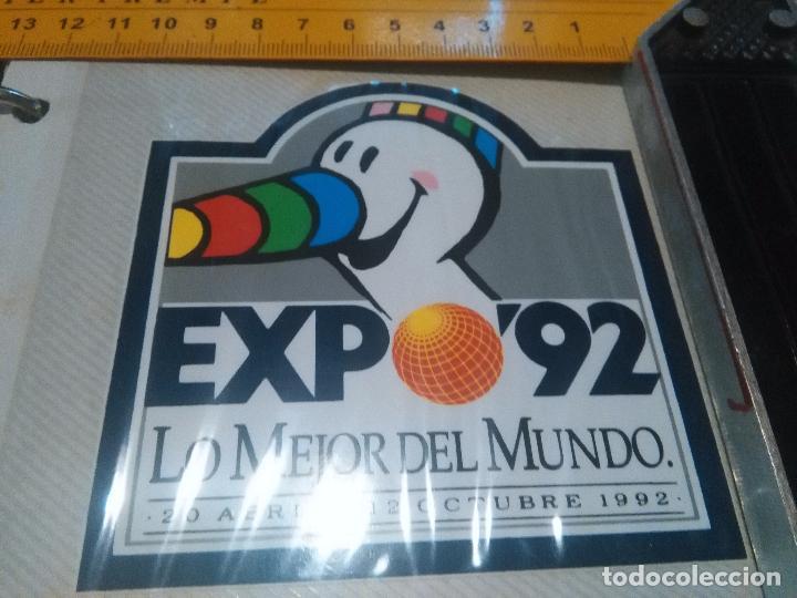 ALBUM 4 ---- ANTIGUA PEGATINA - EXPO 92 MASCOTA CURRO SEVILLA 1992 . (Coleccionismos - Pegatinas)