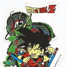 Pegatinas de colección: PEGATINA EXCLUSIVA DRAGON BALL Z- SON GOKU CON SHENLONG- AKIRA TORIYAMA & TOEI ANIMATION CO, 1989. Lote 218526652