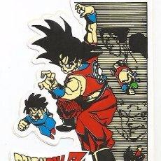 Pegatinas de colección: PEGATINA EXCLUSIVA DRAGON BALL Z- SON GOKU SON GOHAN- AKIRA TORIYAMA & TOEI ANIMATION CO, 1989. Lote 218526562