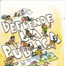 Pegatinas de colección: PEGATINA. 'DEFIENDE LA PÚBLICA' ELIGE CGT. (TAMAÑO 8 * 12 CMS.). Lote 96710347