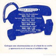 Pegatinas de colección: PEGATINA. 'TELÉFONOS DE ASISTENCIA' LINEA DIRECTA ASEGURADORA. (TAMAÑO 8.9 * 8.7 CMS.). Lote 96743831