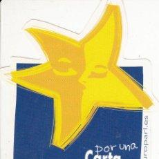 Pegatinas de colección: PEGATINA. 'CARTA DE LOS DERECHOS FUNDAMENTALES' PARLAMENTO EUROPEO. (TAMAÑO 6.3 * 11 CMS.). Lote 96744971