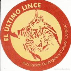 Pegatinas de colección: PEGATINA. 'EL ÚLTIMO LINCE' ASOCIACIÓN ECOLOGISTA Y CULTURAL. 'CURIGA'. (CIRCULAR 9 CMS.). Lote 96746787