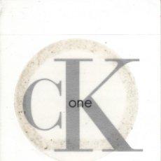 Pegatinas de colección: PEGATINA. 'CALVIN KLEIN' (TAMAÑO 8.2 * 8.2 CMS.). Lote 96900771