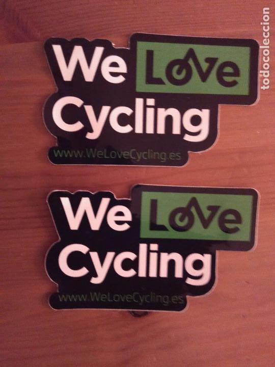 2 PEGATINAS ADHESIVOS WE LOVE CYCLING - CICLISMO (Coleccionismos - Pegatinas)