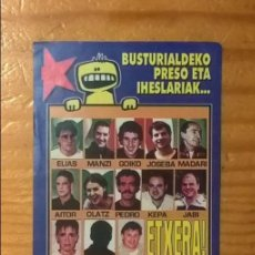 Pegatinas de colección: PEGATINA POLÍTICA VASCA BUSTURIALDEKO PRESO ETA IHESLARIAK AMNISTIA ETA ASKATASUNA. Lote 97942479