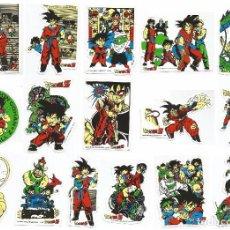 Pegatinas de colección: COLECCION DE 16 PEGATINAS DRAGON BALL Z (LA BOLA DEL DRAGON) AÑO 1989. Lote 218526938