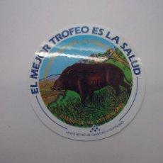 Pegatinas de colección: PEGATINA ADHESIVO PREVENCION DE LA TRIQUINOSIS. MINISTERIO DE SANIDAD Y CONSUMO. TDKP12. Lote 98395271