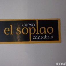 Pegatinas de colección: PEGATINA ADHESIVO CUEVA EL SOPLAO CANTABRIA. TDKP12. Lote 98395323