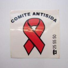 Pegatinas de colección: PEGATINA ADHESIVO. COMITE ANTISIDA DE LA RIOJA. TDKP12. Lote 98396035