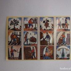 Pegatinas de colección: PEGATINA ADHESIVO DIBUJOS ESCENAS RELACIONADAS CON EL VINO Y LA UVA. TDKP12 . Lote 98396795