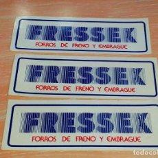 Pegatinas de colección: 3 X FRESSEX FORROS FRENOS Y EMBRAGUE - PEGATINA/STICKER/AUFKLEBER/AUTOCOLLANT. Lote 99243679