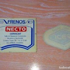 Pegatinas de colección: NECTO - ICER / FRENOS / BRAKES - PEGATINA/STICKER/AUFKLEBER/AUTOCOLLANT - SPAIN. Lote 99244187