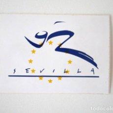 Pegatinas de colección: EXPO 92, PEGATINA PROCEDENTE DEL PABELLÓN DE EUROPA EN LA EXPOSICIÓN UNIVERSAL SEVILLA 1992. Lote 99741891