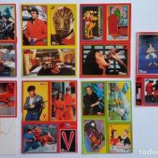 Pegatinas de colección: LOTE DE PEGATINAS TELE INDISCRETA SERIE V, INSPECTOR GADGET Y FAMA AÑOS 80. Lote 99885855