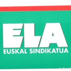 Pegatinas de colección: PEGATINA SINDICAL VASCA. SINDICATO ELA. Lote 101908747