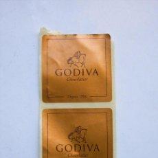 Pegatinas de colección: 2 PEGATINAS DE CHOCOLATES GODIVA. Lote 102994731