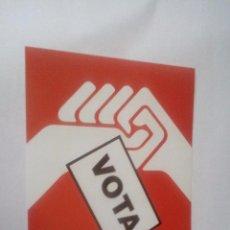 Pegatinas de colección: VOTA CGT - PEGATINA ELECCIONES SINDICALES CONFEDERACION GENERAL DEL TRABAJO - POLITICA SINDICAL . Lote 103279187