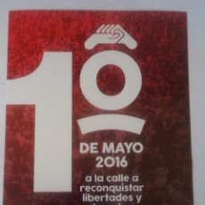 Pegatinas de colección: 1º MAYO 2016 - PEGATINA POLÍTICA SINDICAL CGT - CONFEDERACIÓN GENERAL DEL TRABAJO. Lote 103289355