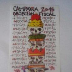 Pegatinas de colección: CAMPAÑA OBJECIÓN FISCAL 2013 - CGT - PEGATINA POLÍTICA SINDICAL - CONFEDERACIÓN GENERAL TRABAJO. Lote 103289739