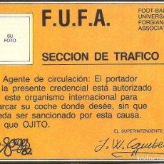 Pegatinas de colección: PEGATINA - ADHESIVO FORGES 82 - SECCION DE TRAFICO PERMISO APARCAMIENTO - MUNDIAL 1982 ESPAÑA. Lote 104611255