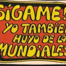 Pegatinas de colección: PEGATINA - ADHESIVO FORGES 82 - HUYO DE LOS MUNDIALES - MUNDIAL 1982 ESPAÑA. Lote 104642395