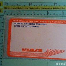 Autocollants de collection: PEGATINA DE AVIONES AEROLÍNEAS. AEROLÍNEA VIASA VENEZUELA. 6. Lote 105697571