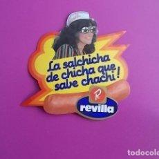 Pegatinas de colección: PEGATINA / LA SALCHICHA DE CHICHA QUE SABE CHACHI /REVILLA . Lote 106069643