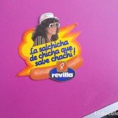 Pegatinas de colección: PEGATINA / LA SALCHICHA DE CHICHA QUE SABE CHACHI /REVILLA . Lote 106069767