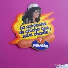 Pegatinas de colección: PEGATINA / LA SALCHICHA DE CHICHA QUE SABE A CHACHI REVILLA . Lote 106083631