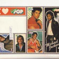 Autocolantes de coleção: SUPER POP LOTE PEGATINAS MICHAEL JACKSON JOHN TRAVOLTA ETC. Lote 106555979