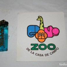 Pegatinas de colección: PEGATINA.ZOO.AÑOS 90.NUEVA.GRANDE.ZOO DE LA CASA DE CAMPO.MADRID.NATURALEZA.ANIMALES.COLECCIONISTA. Lote 107036211