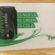 Pegatinas de colección: PEGATINA REFRESCO GREEN COLA GRECIA.. Lote 107042347
