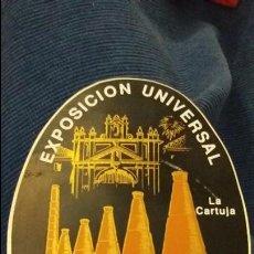 Pegatinas de colección: PEGATINA ESPECIAL ÓVALO BRILLO EXPO 92 EXPOSICIÓN UNIVERSAL SEVILLA 1992 LA CARTUJA. Lote 107753819